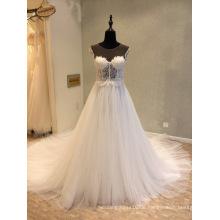 Perlen Spitze Abend Hochzeit Brautkleider