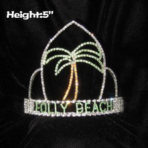 Crystal Plam Tree Pageant Coronas de verano