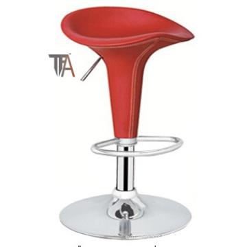 Matériau PVC couleur rouge Tabouret de bar