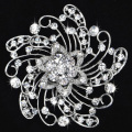 fashion Big size flower crystal and rhinestone women brooches various colors wholesale/retail