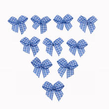 Blue Chex Ribbon Bow