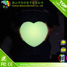 Feux de décoration LED en forme de coeur pour le mariage