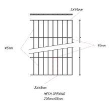 Однопроводная панельная изгородь RAL6005 / RAL7016 / RAL9005