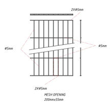 Clôture de panneau simple fil RAL6005 / RAL7016 / RAL9005