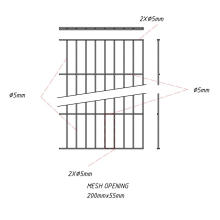 Single Wire Panel Fence RAL6005/RAL7016/RAL9005
