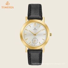 Women′s Quartz Stainless Steel and Leather Casual Watch, Color: Black 71229