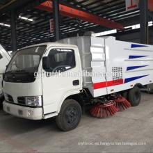Camión del barrendero de Dongfeng 6cbm con el tanque del polvo, el tanque de agua, el tanque de la succión