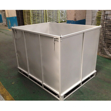 Caixa de rotatividade de metal para armazenamento em armazém