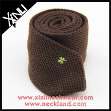 Créez votre propre marque broderie personnalisée Logo tricoté Neck Mens Wool Ties