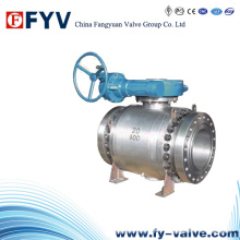 API6d Manual Three Pieces Trunnion Mounted Ball Valve