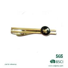 Grampo de gravata personalizado do logotipo do ouro 3D