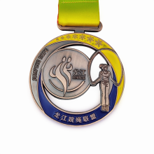 Персонализированная медаль из мягкой эмали из цинкового сплава