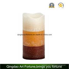 Bougie de cire parfumée à LED sans flamme en couches pour décoration