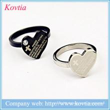 Ring-Designs für Männer Männer Ringe mit Bibel Kreuz schwarz und Splitter Titan Ring