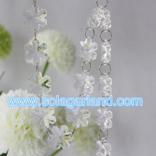 Nowy produkt 2016 akryl Crystal śnieżynka koralik Garland Home Party Decoration