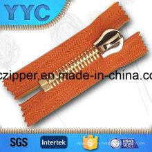 Тяжелые Duty Rose Gold Metal Zipper 15 # для куртки