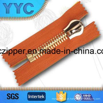 Heavy Duty Rose Gold Metal Zipper 15 # para jaquetas