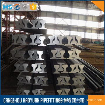 Manufacturer for Crane Steel Train Rails U71Mn 50Mn 45Mn p43 43kg Railroad Steel Rail export to Saint Kitts and Nevis Suppliers