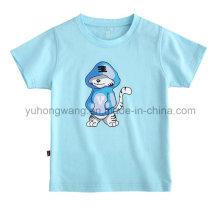 T-shirt impresso do miúdo de algodão promocional