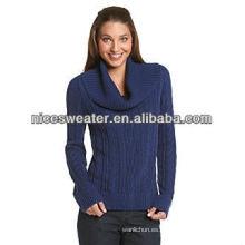 Jersey de cuello de chal de mujer jeanne pierre sweater