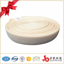 Material de la prenda bandas elásticas tejidas de poliéster de color ancho