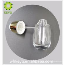 30 ml de luxo claro colorido vazio óleo essencial fundação frasco cosmético conta-gotas de vidro com conta-gotas de imprensa