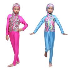 S-XL Muçulmano Islâmico Hijab Modest Swimsuit trajes de banho islâmicos islâmico crianças swimwear muçulmano