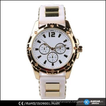 quartz movt silicone wristband watch