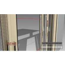 Алюминиевые стеклянные дверные конструкции для гостиной / раздвижная дверь из алюминиевого профиля