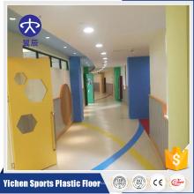 YC Economic billig geprägte Kunststoffvinylfolie PVC-Bodenbelag Großhandel