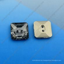 Cuadrado Fancy Stones Botones con dos agujeros