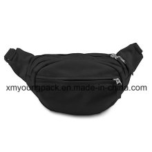 Fashion Black Sports Running Waist Pack Waist Bag