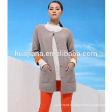 manteau de tricot de cachemire des femmes de bonne qualité