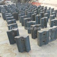 Pièces de concasseur à rouleaux en acier au mongan en acier chromé haute