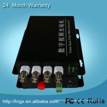 Alibaba commerce assurance 4 canaux BNC vidéo à ip convertisseur DC5V1A 1550nm catv optique émetteur