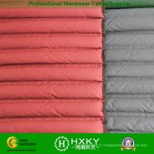 Tissu de remplissage direct de double couche de polyester pour le manteau Downproof