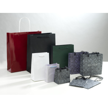 Bolsa de papel artesanal para embalagem e compras com alça (SW111)