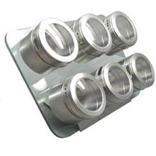 Porta-condimentos magnético stainles Steel (CL1Z-J0604-6F)