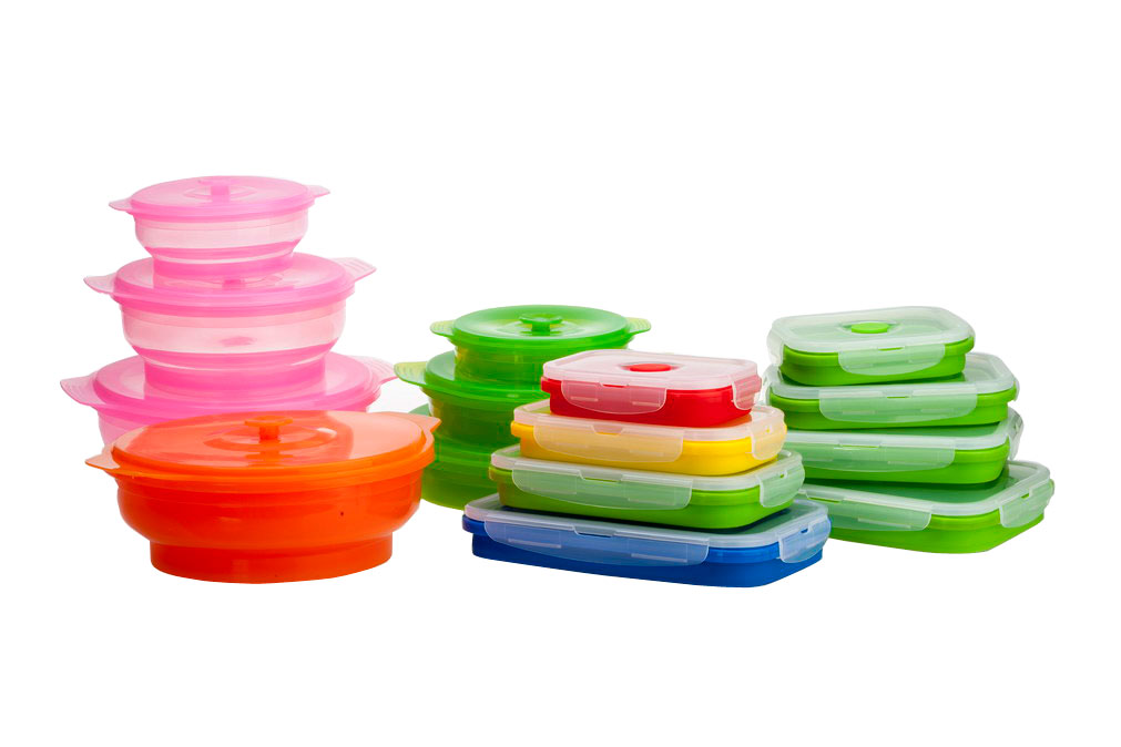 Eco-friendly Silicone Material Lunch Boxes