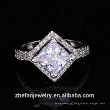 atacado suprimentos de jóias china acessórios do casamento anel de forma quadrada
