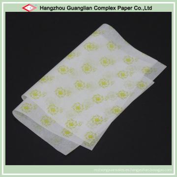 Hojas de papel de pergamino impresas sin blanquear para la cocción de alimentos