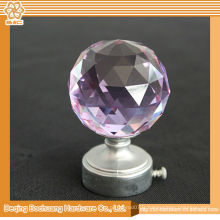 8/10/13/16/19/22/25 / 28mm Cristal Cristal Décoratif Cristal Curtain Finial Rose