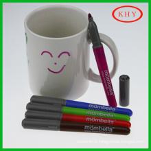 Hot Selling Colored Ceramic Mug Marker Pen