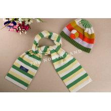 Sombrero y bufanda de cachemir para niños