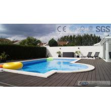 Decking compuesto al aire libre de 125 * 23m m WPC con SGS, Fsc, certificado del CE