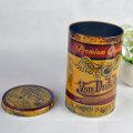Custom Print Tinplate Round Package Container para chá Embalagem Can Metal Box Tea Tin