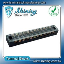 TB-2512 25A 12 tarjeta de terminales eléctrico de tornillo M4 Aislamiento Camino