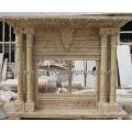 Tallando la chimenea de mármol para la chimenea de piedra al aire libre de la chimenea (QY-LS286)