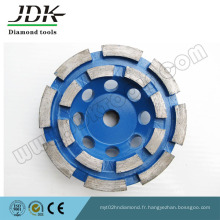 Diamond Cup Wheel Double Row pour Granite