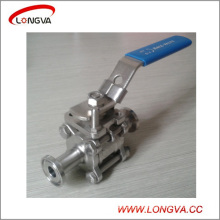 Sanitary 316L 3PC Clamped Ball Valve with Lockable Handle